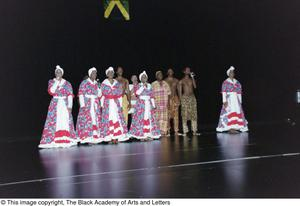 Primary view of object titled '[Performances onstage at Ashe Caribbean event]'.