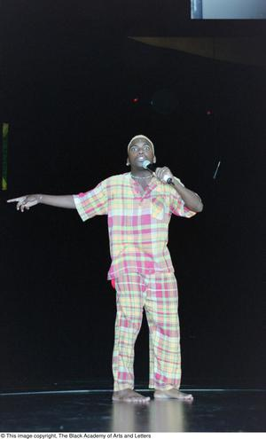 Primary view of object titled '[Lift Up Jamaica singer performing]'.