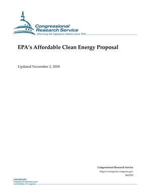 Primary view of object titled 'EPA's Affordable Clean Energy Proposal'.