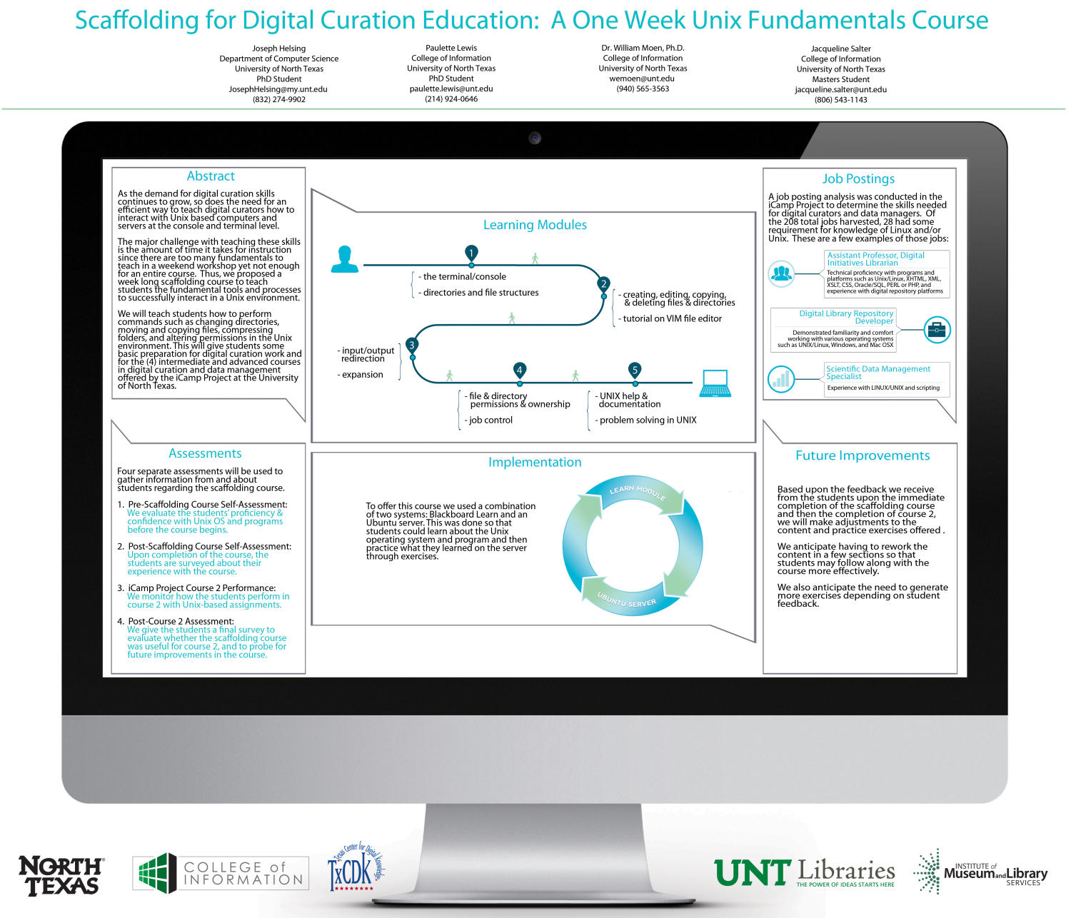 Scaffolding for Digital Curation Education: A One Week Unix Fundamentals Course                                                                                                      [Sequence #]: 1 of 1