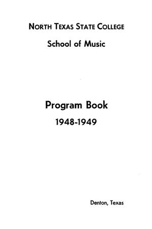 School of Music Program Book 1948-1949