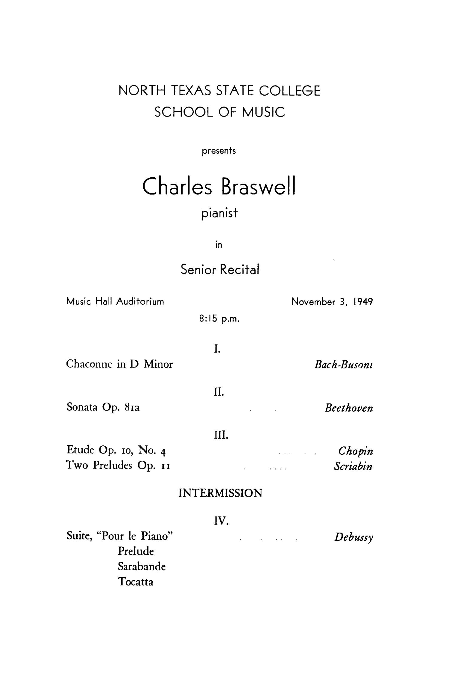 School of Music Program Book 1949-1950                                                                                                      17