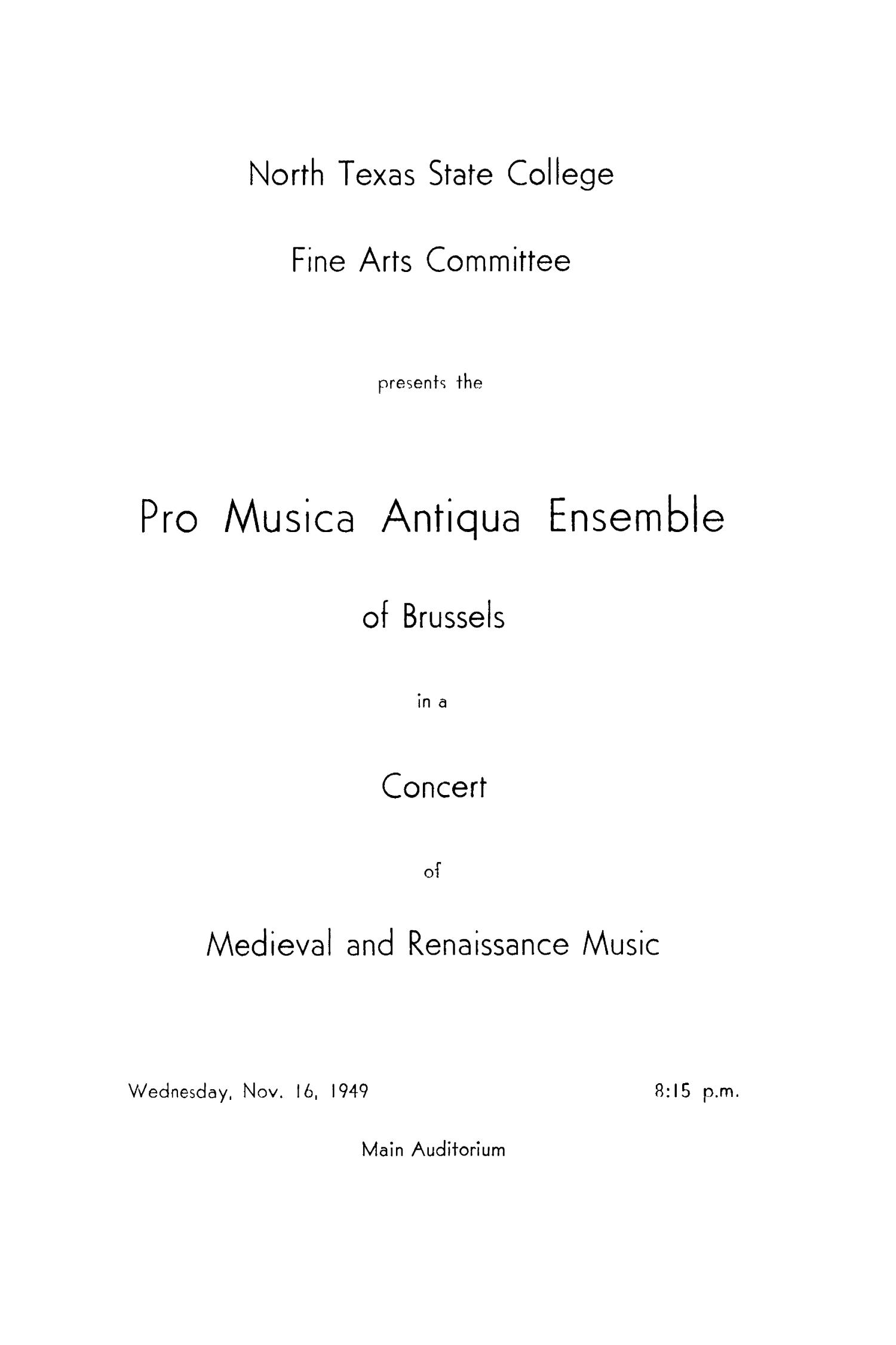 School of Music Program Book 1949-1950                                                                                                      21