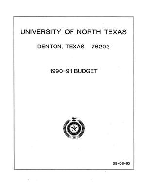 Primary view of object titled 'University of North Texas Budget: 1990-1991'.