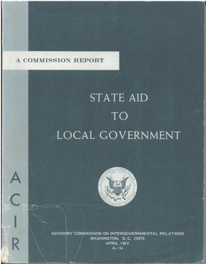 Primary view of object titled 'State aid to local government'.