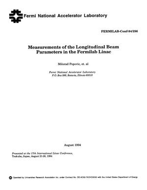 Primary view of Measurements of the longitudinal beam parameters in the Fermilab Linac