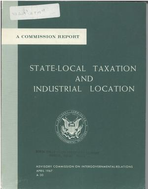 Primary view of object titled 'State-local taxation and industrial location'.