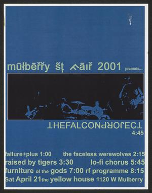 Primary view of object titled 'The Falcon Project, Mulberry St. Fair 2001 poster]'.