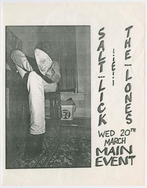[Salt Lick & The Lones poster]