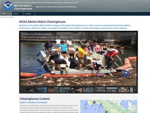 Primary view of object titled 'NOAA Marine Debris Clearinghouse'.