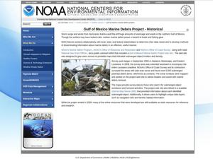 Primary view of object titled 'Gulf of Mexico Marine Debris Project - Historical'.