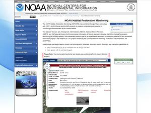 Primary view of object titled 'NOAA Habitat Restoration Monitoring'.
