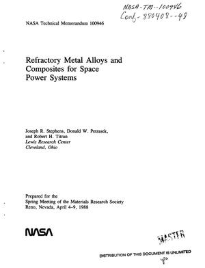 Primary view of Refractory metal alloys and composites for space power systems