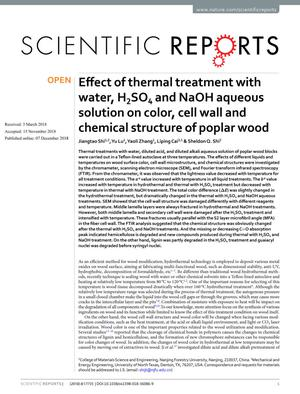 Effect of Thermal Treatment With Water, H₂So₄ and Naoh Aqueous Solution on Color, Cell Wall and Chemical Structure of Poplar Wood