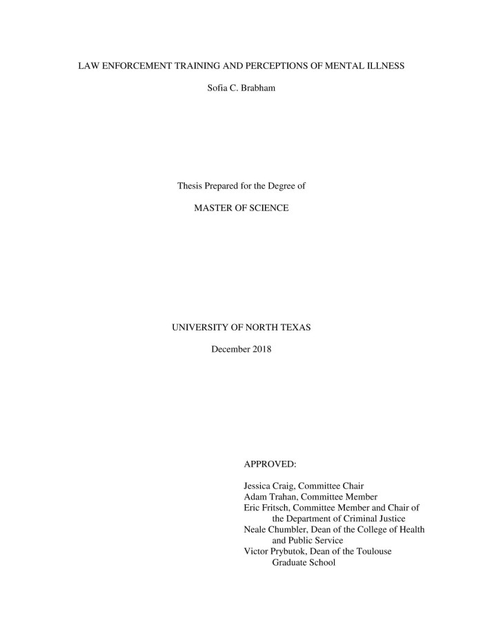 thesis public service training