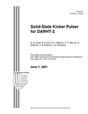 Primary view of object titled 'Solid-State Kicker Pulser for DARHT-2'.