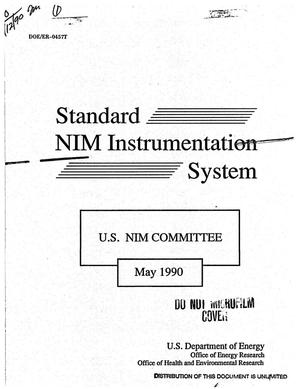 Primary view of object titled 'Standard NIM instrumentation system'.