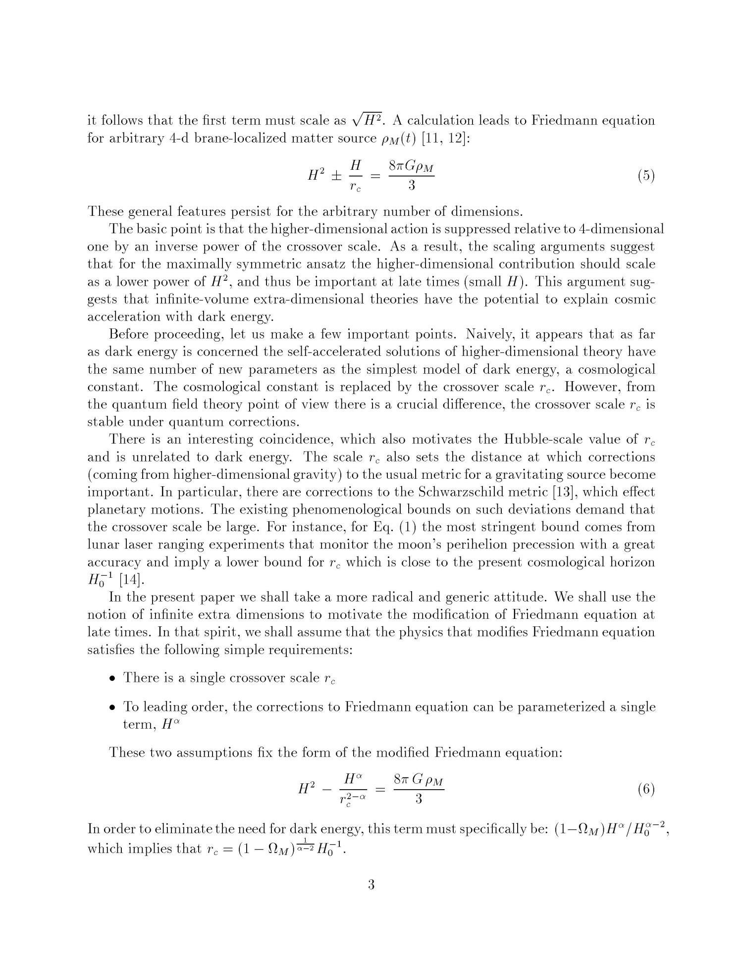 Dark energy as a modification of the Friedmann equation                                                                                                      [Sequence #]: 4 of 12