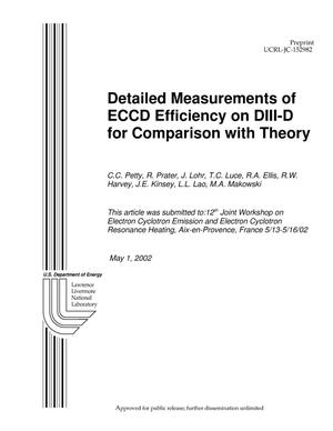 Primary view of object titled 'Detailed Measurements of ECCD Efficiency on DIII-D for Comparison with Theory'.