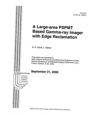 Primary view of object titled 'Large-area PSPMT based gamma-ray imager with edge reclamation'.