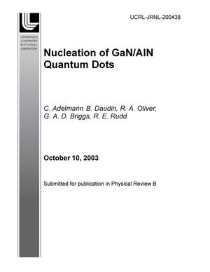 Primary view of object titled 'Nucleation of GaN/AlN quantum dots'.