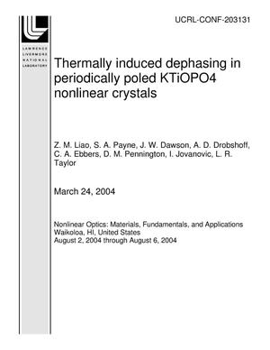 Primary view of object titled 'Thermally induced dephasing in periodically poled KTiOPO4 nonlinear crystals'.