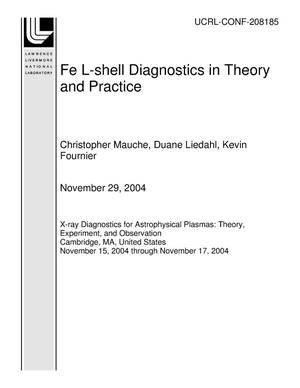 Primary view of object titled 'Fe L-shell Diagnostics in Theory and Practice'.