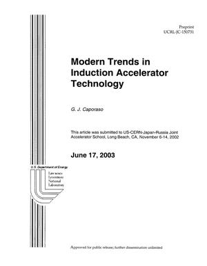 Primary view of object titled 'Modern Trends in Induction Accelerator Technology'.