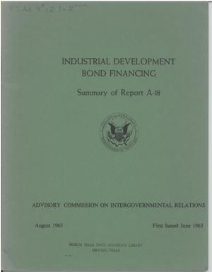 Primary view of object titled 'Industrial Development Bond Financing'.