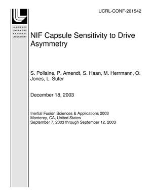 Primary view of object titled 'NIF Capsule Sensitivity to Drive Asymmetry'.