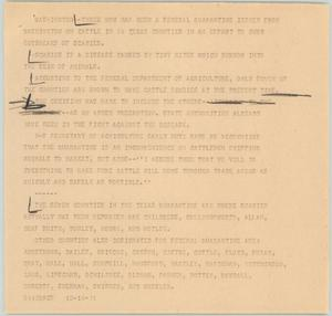 Primary view of object titled '[News Script: Scabies]'.