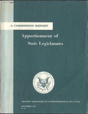 Primary view of object titled 'Apportionment of State legislatures'.