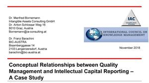 Conceptual Relationships between Quality Management and Intellectual Capital Reporting - A Case Study