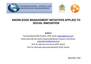 Primary view of Knowledge Management Initiatives Applied to Social Innovation