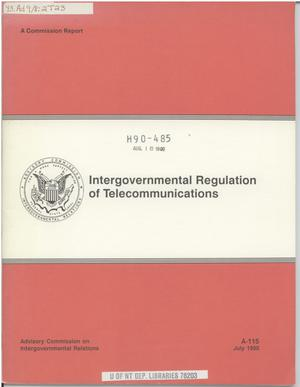 Primary view of object titled 'Intergovernmental regulation of telecommunications'.