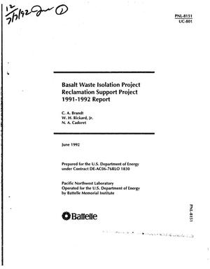 Primary view of Basalt Waste Isolation Project Reclamation Support Project:
