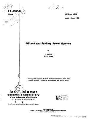 Primary view of object titled 'Effluent and sanitary sewer monitors'.