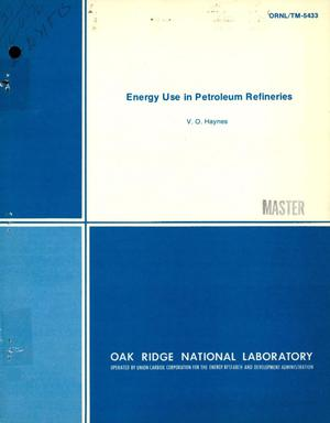 Primary view of Energy use in petroleum refineries