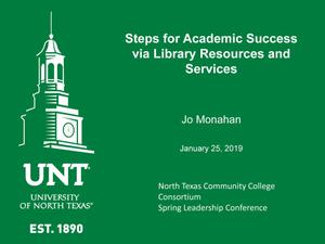 Steps for Academic Success via Library Resources and Services