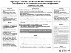 Exploring the Relationship Between the Motivation and Behavioral Predisposition of Self-Disclosure on Social Media Applications