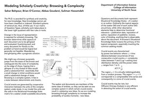 Primary view of Modeling Scholarly Creativity: Browsing and Complexity