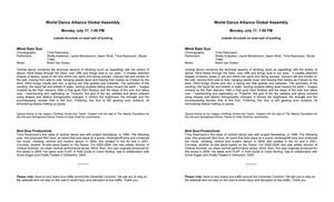 [2006 World Dance Alliance Global Assembly performance program, July 17, 2006 (lunch)]