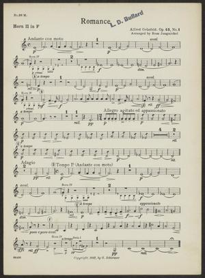 Primary view of Romance: Horn 2 in F Part