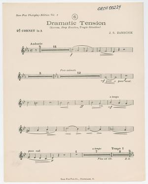 Primary view of Dramatic Tension: 2nd Cornet in A Part ORCH-00224-15