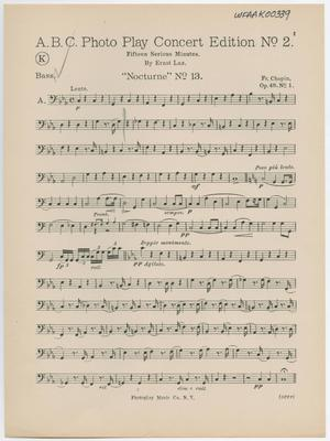 Primary view of Chopiniana Suite: Bass Part ORCH-K00339-008