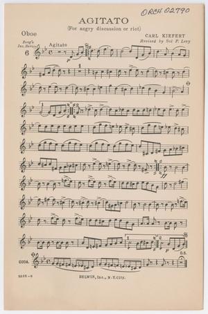 Primary view of Agitato: Oboe Part