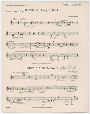 Primary view of Dramatic Allegro & Pathetic Andante: Horns I and II in F Part ORCH-00075-014