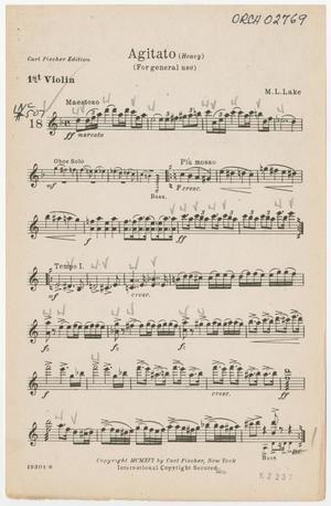 Primary view of Agitato (Heavy): Violin 1