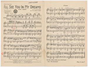 Primary view of I'll See You In My Dreams and No Wonder (That I Love You): Piano Part