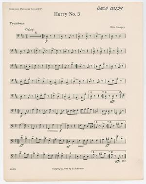 Primary view of Hurry Number 3: Trombone Part